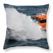 Choppy Waters Throw Pillow