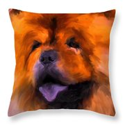 Chow Portrait Throw Pillow