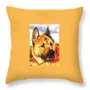Chow Shepherd Mix Throw Pillow