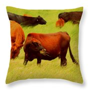 Chow Time Throw Pillow