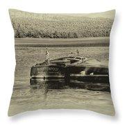 Vintage 1958 Chris Craft Throw Pillow