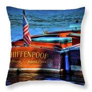 1958 Chris Craft Utility Boat Throw Pillow