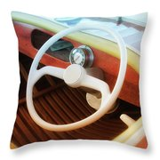 Chris Craft Dreaming Throw Pillow