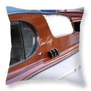 Chris Craft Enclosed Cruiser Throw Pillow