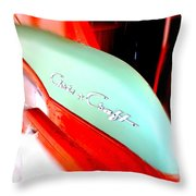Chris Craft In Blur  Throw Pillow