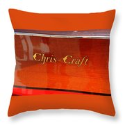 Chris Craft Logo Throw Pillow by Michelle Calkins