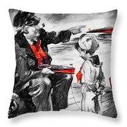 Chris-craft Sailor And Sailor Vintage Ad Throw Pillow