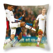 Chris Smalling  In Action  Throw Pillow