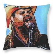 Chris Stapleton Throw Pillow