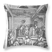 Christ Among The Doctors In The Temple 1503 Throw Pillow