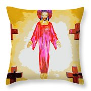 Christ And Crosses Throw Pillow