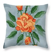 Christ And The Disciples Roses Throw Pillow