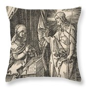 Christ Appearing To His Mother, From The Small Passion Throw Pillow