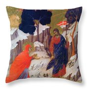 Christ Appearing To Mary 1311 Throw Pillow
