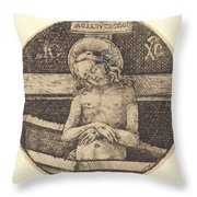 Christ As The Man Of Sorrows Throw Pillow
