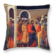 Christ Before Caiaphas 1311 Throw Pillow