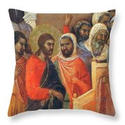 Christ Before Caiaphas Fragment 1311 Throw Pillow