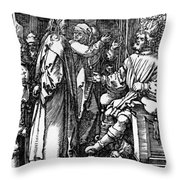 Christ Before Herod 1509 Throw Pillow