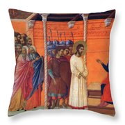 Christ Before Pilate 1311 Throw Pillow