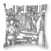 Christ Before Pilate 1511 Throw Pillow