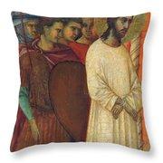 Christ Before Pilate Fragment 1311 Throw Pillow