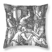 Christ Being Crowned With Thorns 1510 Throw Pillow