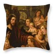 Christ Blessing The Children Throw Pillow
