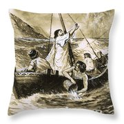 Christ Calming The Storm Throw Pillow