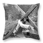 Christ Carrying Cross, Vadito, New Mexico, March 30, 2016 Throw Pillow