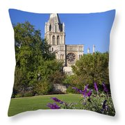 Christ Church Cathedral Oxford University Uk Throw Pillow