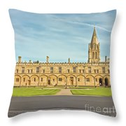 Christ Church College Oxford Throw Pillow