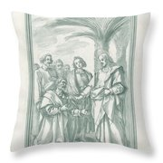 Christ Consigning The Keys To Saint Peter Throw Pillow