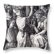 Christ Crowned With Thorns 1512 Throw Pillow