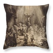 Christ Crucified Between The Two Thieves  The Three Crosses, 1653 Throw Pillow