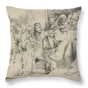 Christ Disputing With The Doctors: A Sketch Throw Pillow