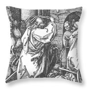 Christ Driving The Merchants From The Temple 1511 Throw Pillow