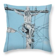 Christ From Mexico Throw Pillow