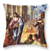 Christ Healing The Blind 1578 Throw Pillow