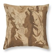Christ Healing The Paralytic Throw Pillow