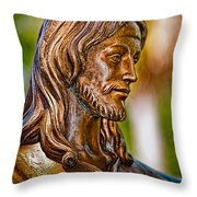 Christ In Bronze Throw Pillow by Christopher Holmes