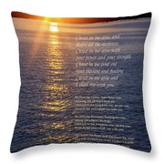 Christ In Me Arise Throw Pillow