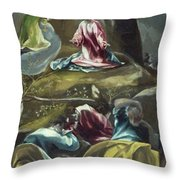 Christ In The Olive Garden Throw Pillow