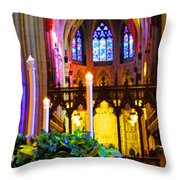 Christ Is Born Travel Throw Pillow