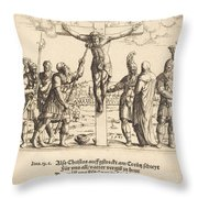Christ Is Given Vinegar To Drink Throw Pillow