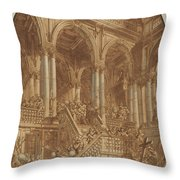 Christ Led Captive From A Palace Throw Pillow