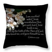 Christ Lives In Me Throw Pillow