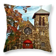 Christ My Solid Rock Throw Pillow