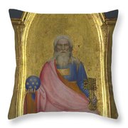 Christ Of The Apocalypse   Central Pinnacle Panel Throw Pillow