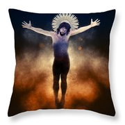 Christ Of The Cosmos Throw Pillow