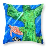 Christ Of The Deep Throw Pillow